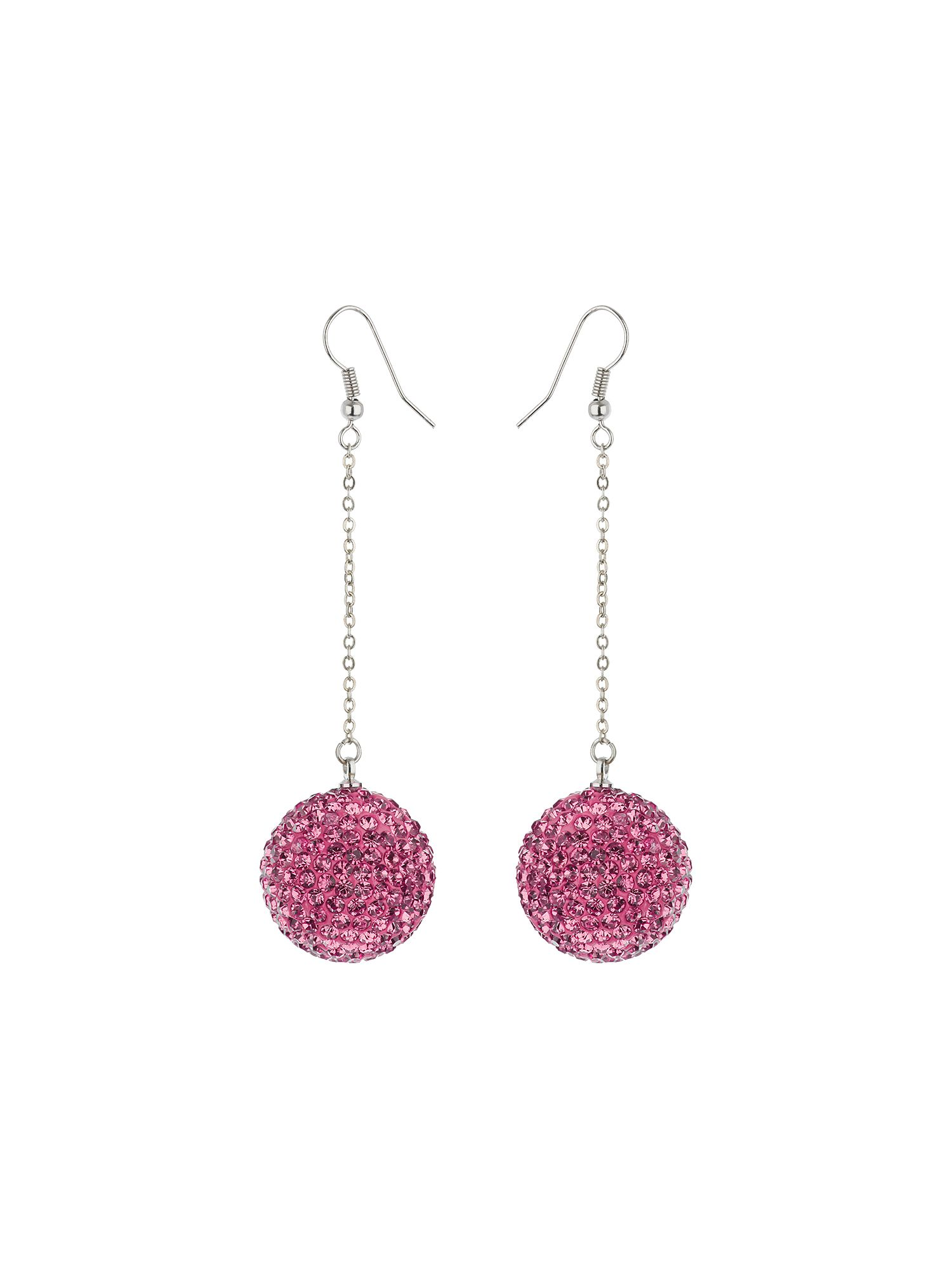 mikey 22mm crystal drop earring