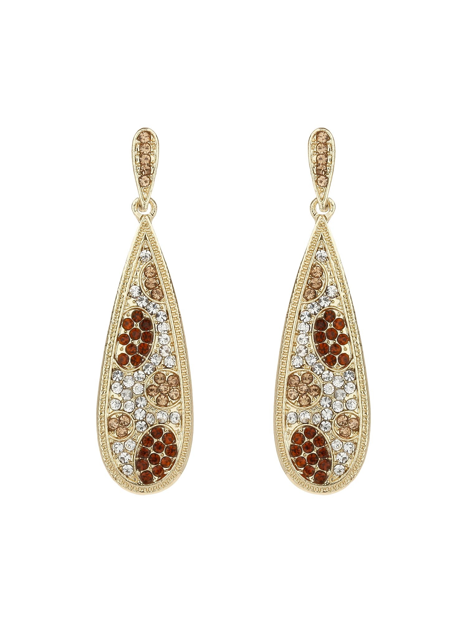 Oval flat earrings