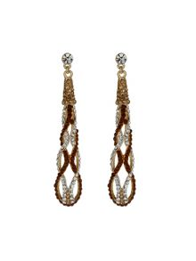 Long twisted earrings