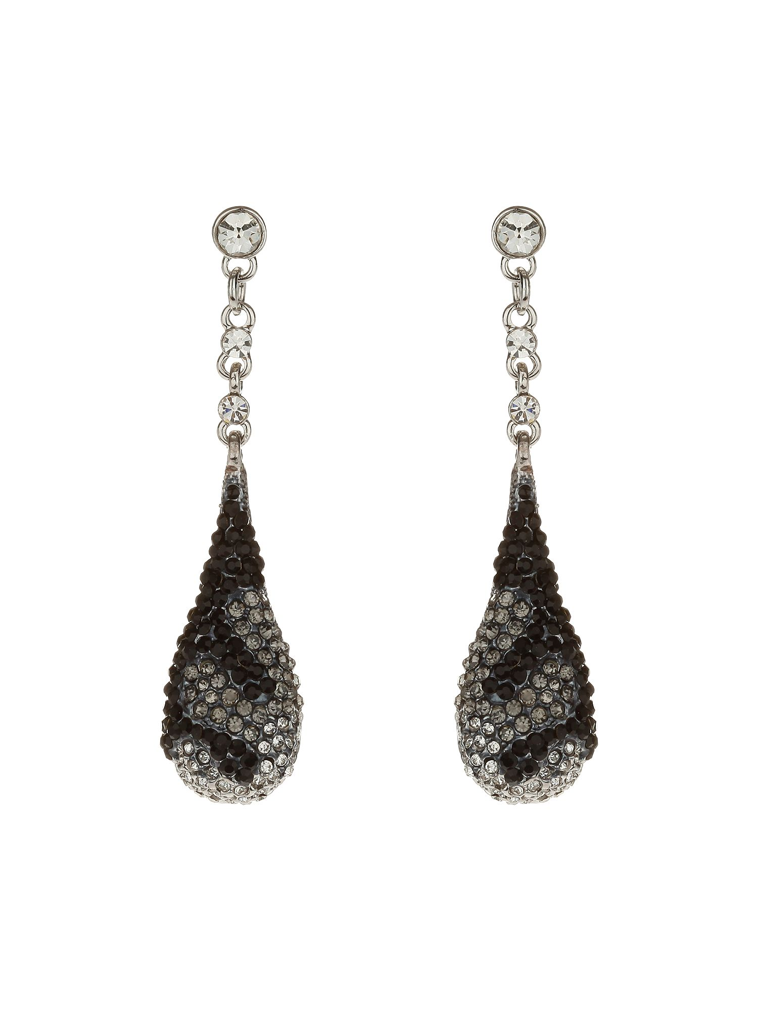 Oblong drop earrings