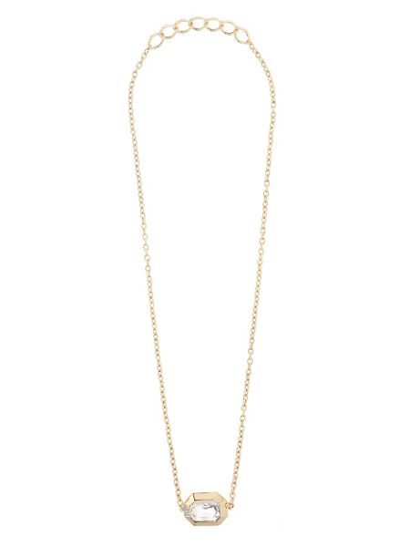 Mikey Large stone chain pendant