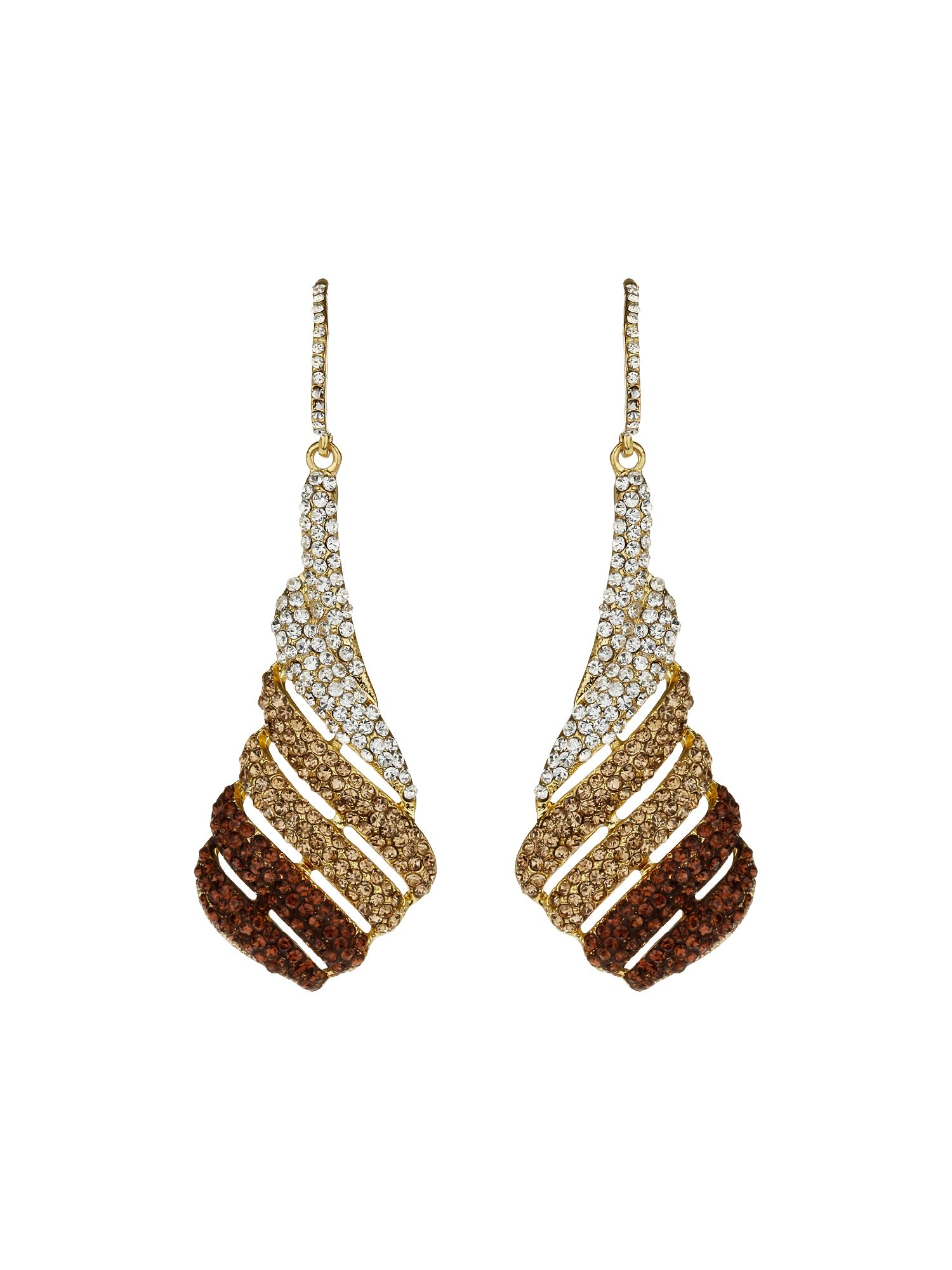Full crystal fillagary earrings