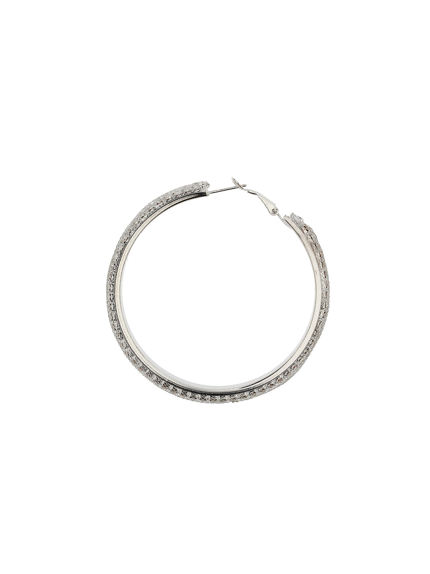 2 line crystal hoop earrings