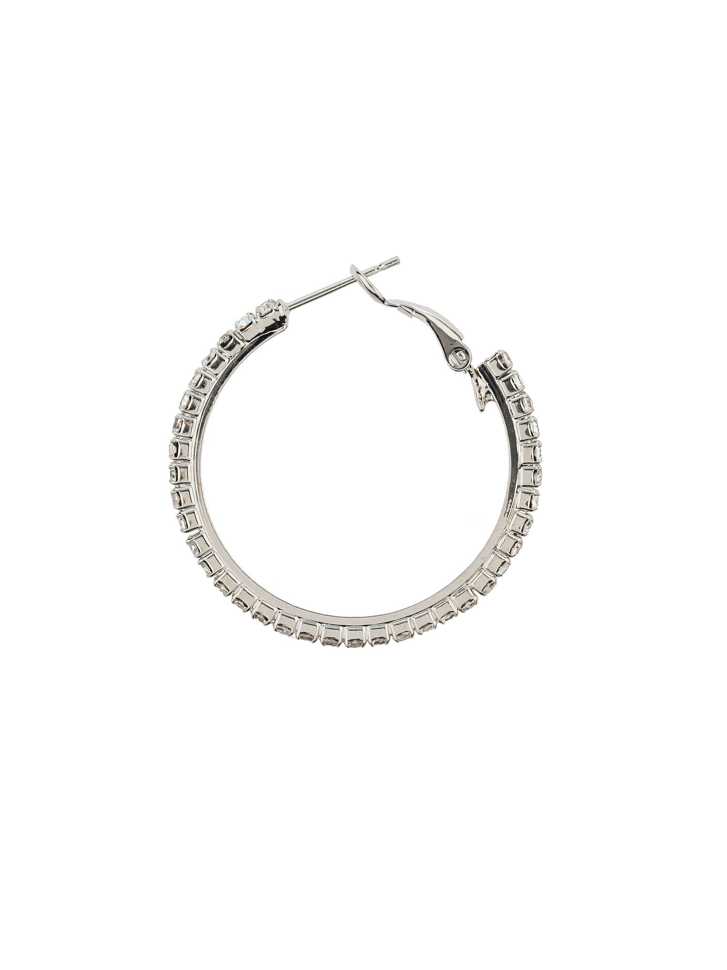 Thin hoop earrings