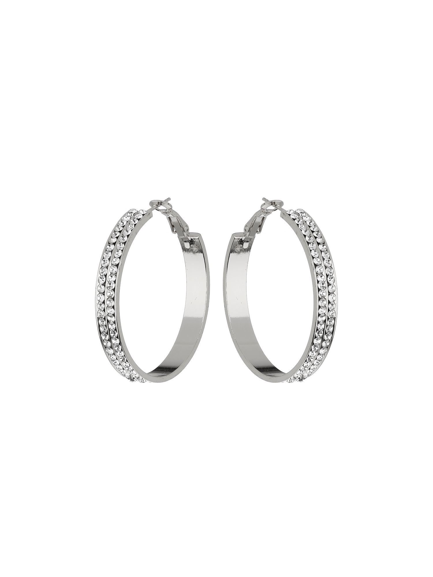 2 line hoop earrings
