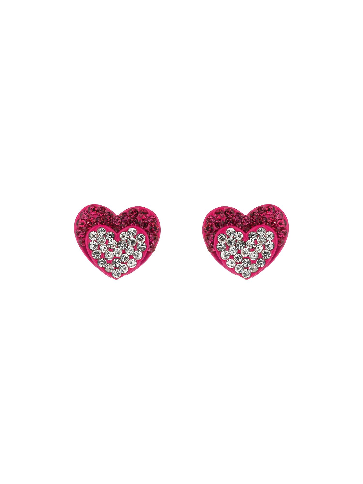 Double heart earrings