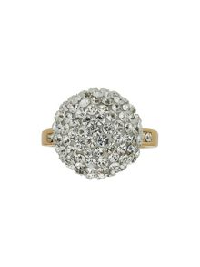 Single stone cluster ring
