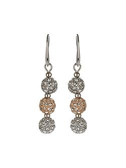 Crystal small heavy earrings