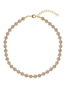 Mikey Crystal small heavy necklace
