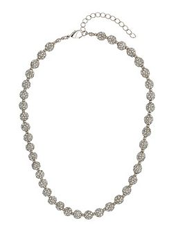 Crystal small heavy necklace