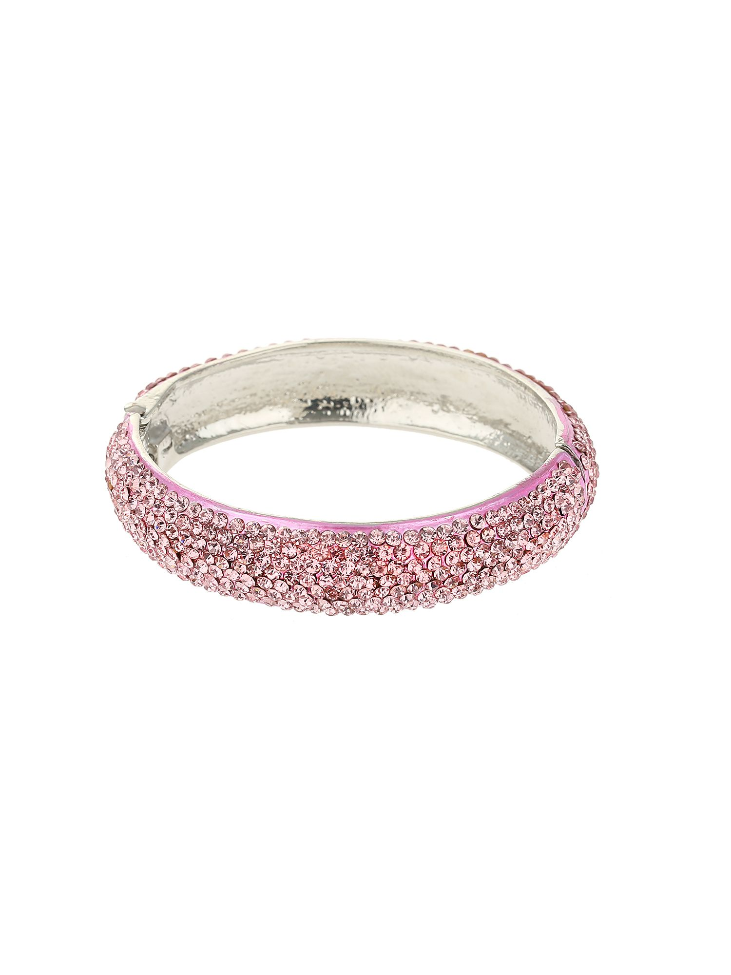 Mikey Thin Crystal Bracelet Pink