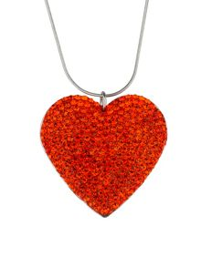 Mikey Flat heart necklace