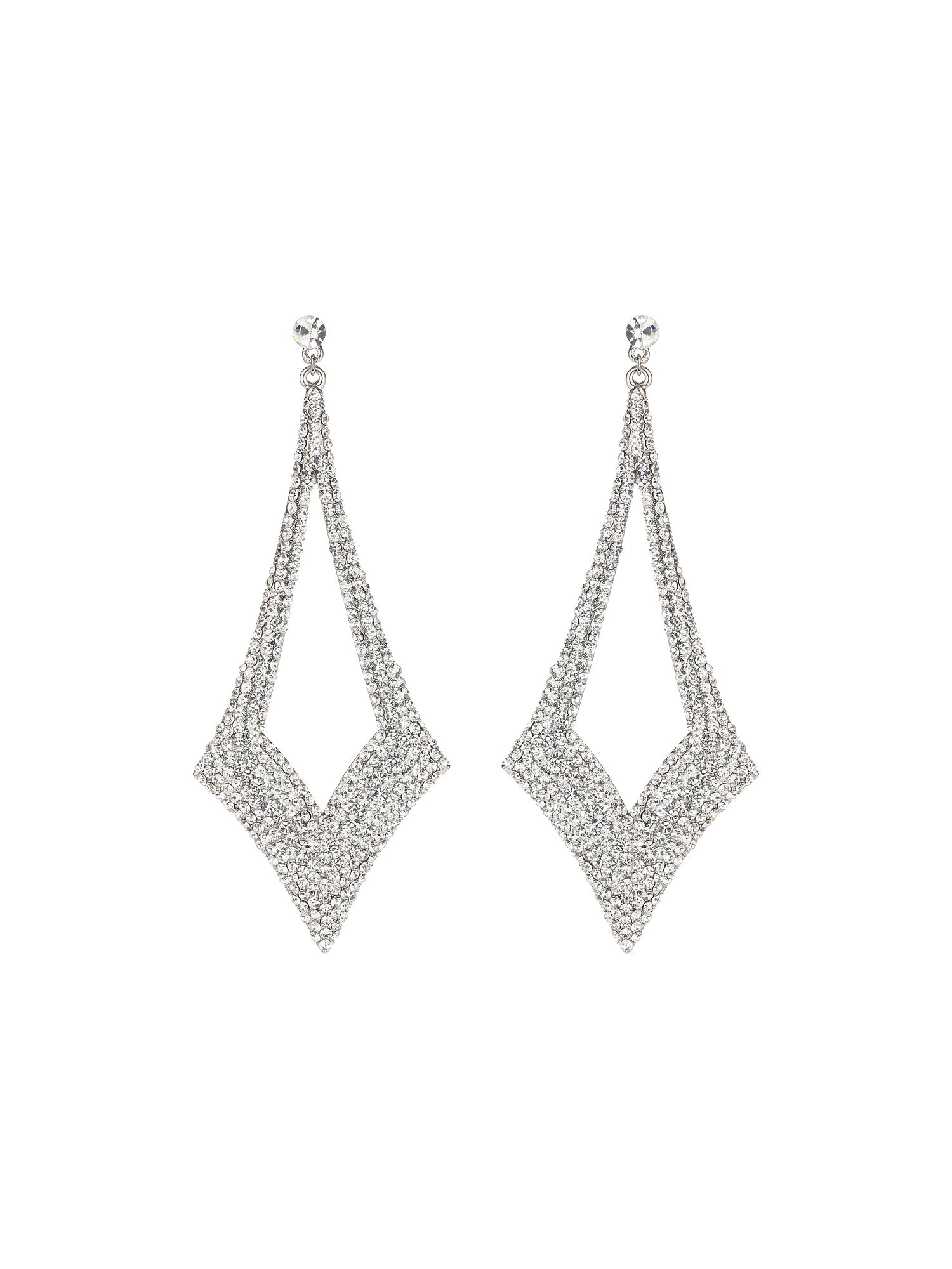 Large diamond drop earrings