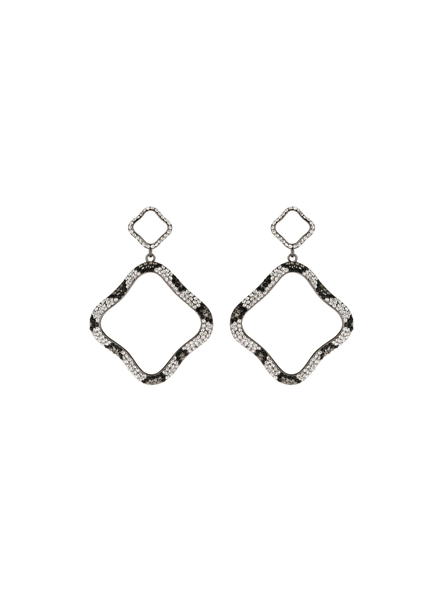 Twisted square earrings