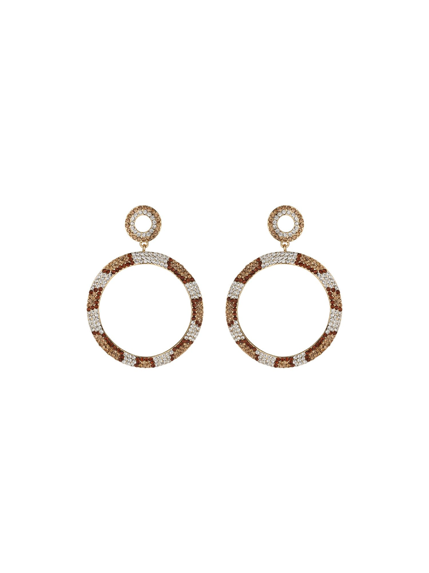 Twisted circle earrings