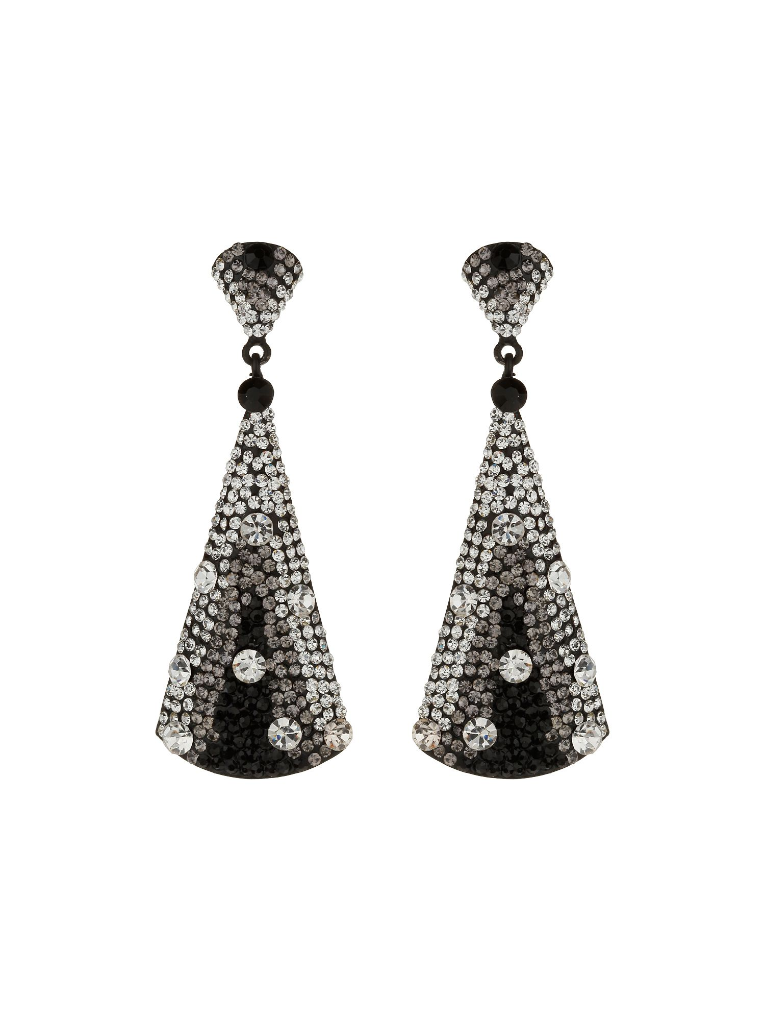 Triangle large earrings