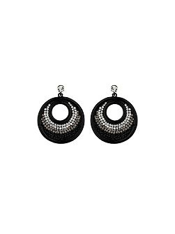 Large round earring