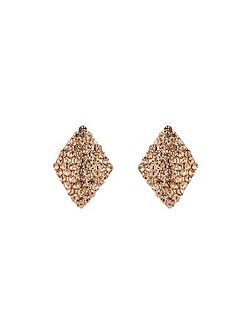 Small Curved Square Earring