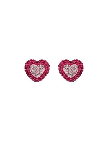 Mikey Two Tone Heart Earring
