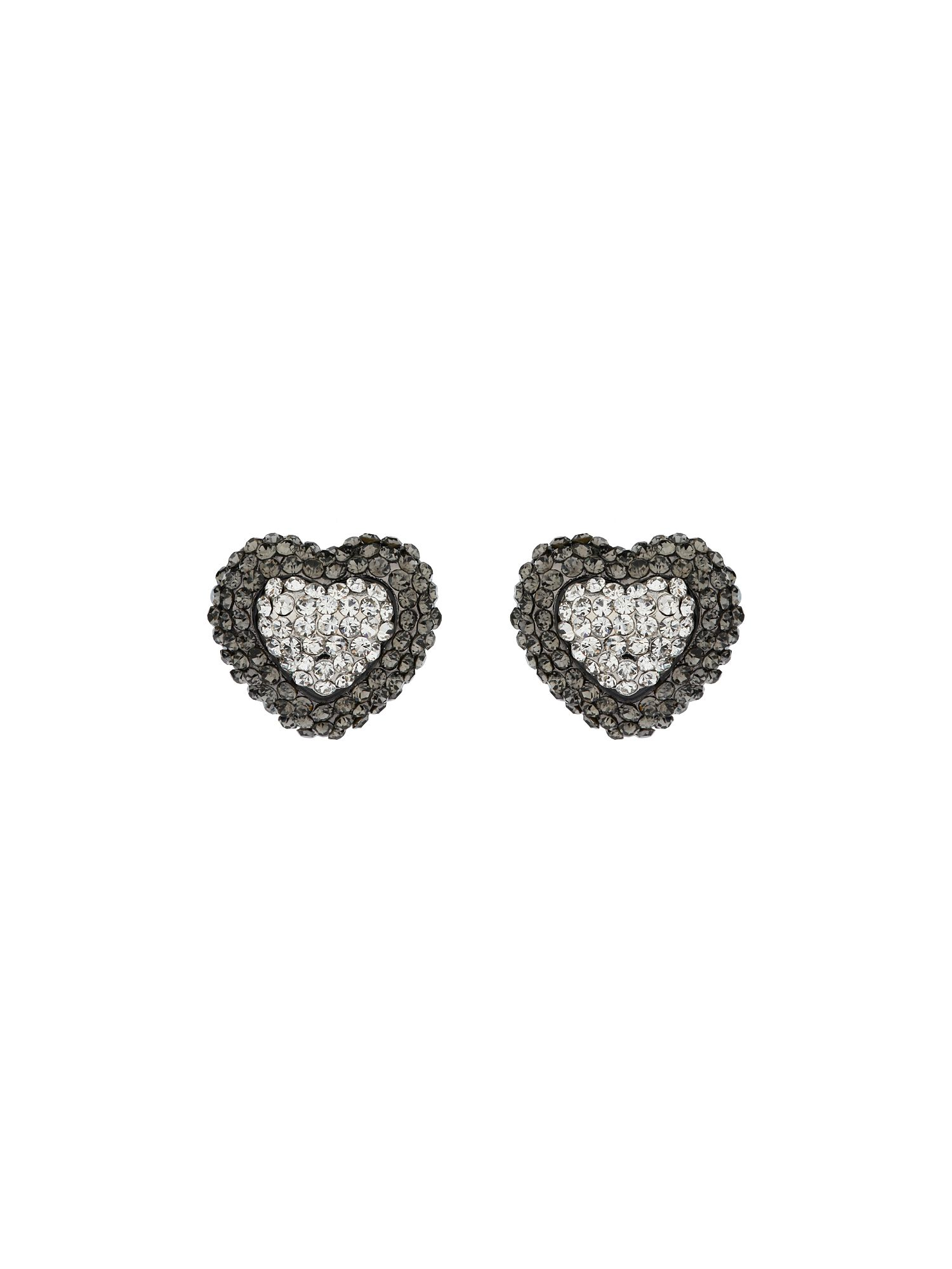 Two tone heart earrings