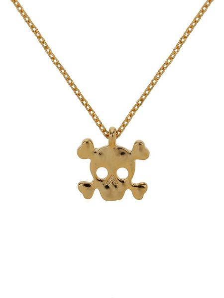 Mikey Small plain skull necklace