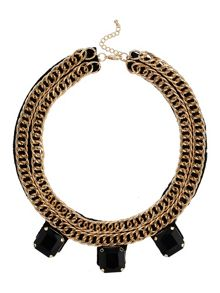 Mikey Chain collar with stone