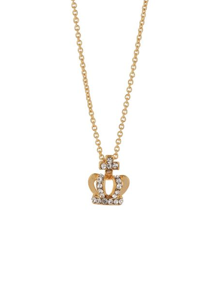 Mikey Small diamante crown necklace