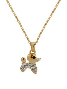 Mikey Small diamante dog necklace