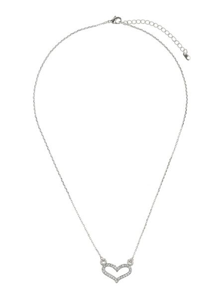 Mikey Small diamante heart necklace