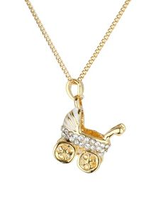 Mikey Small diamante pram necklace