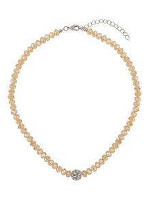 Crystal ball sw bead necklace