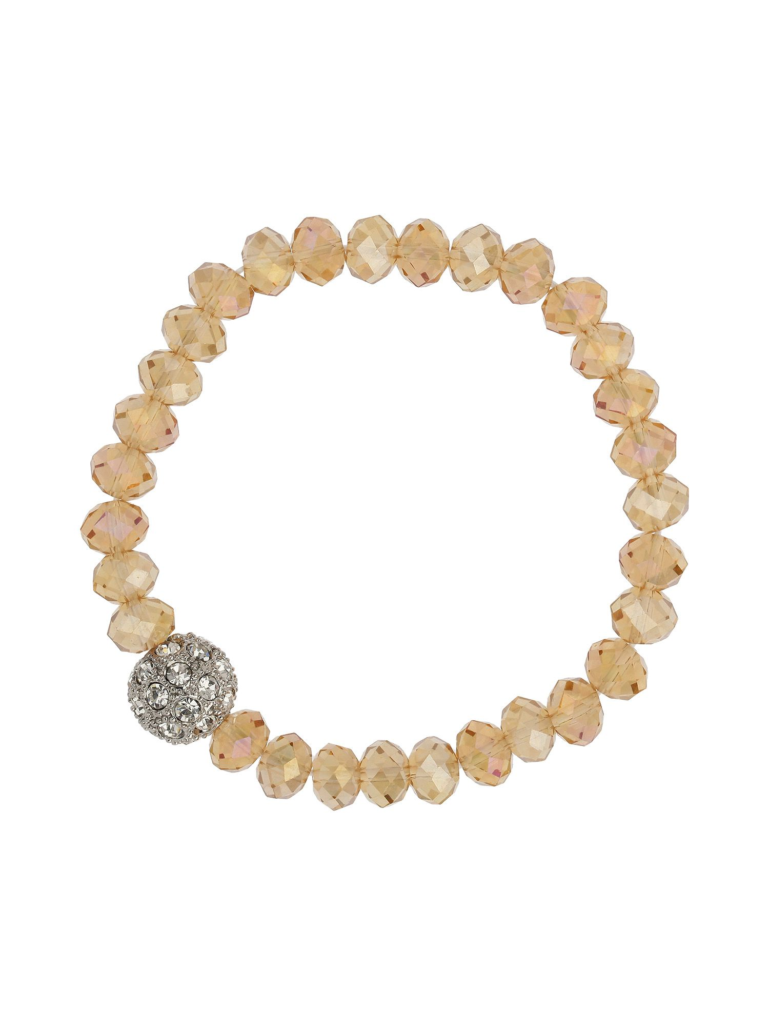 Crystal ball sw bead bracelet