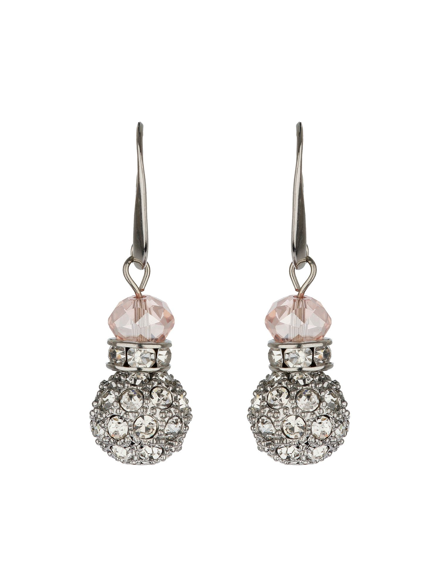 Crystal ball sw bead earrings