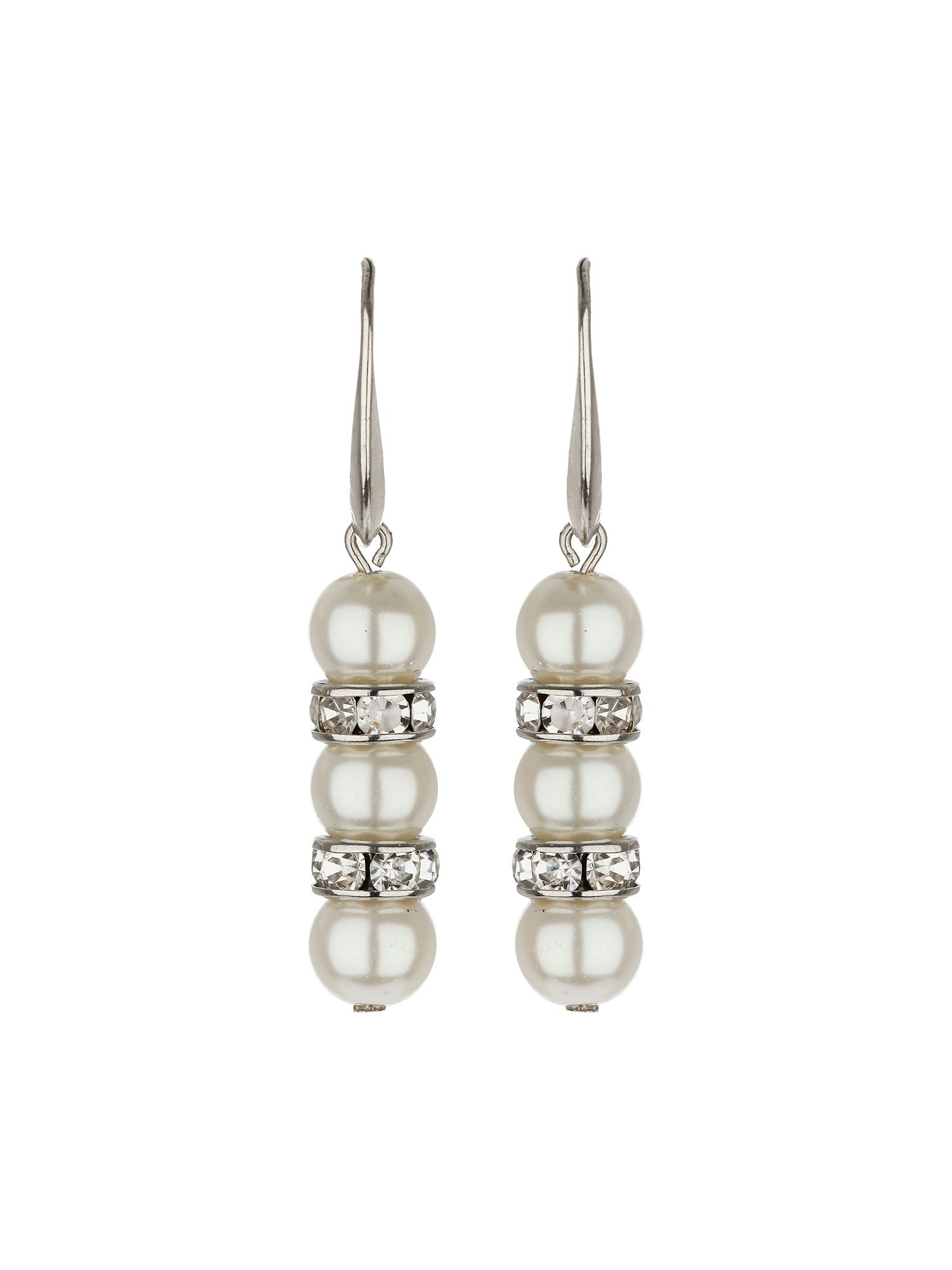 Pear with crystal ring earrings