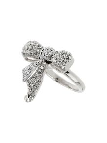 Mikey Bow crystal ring