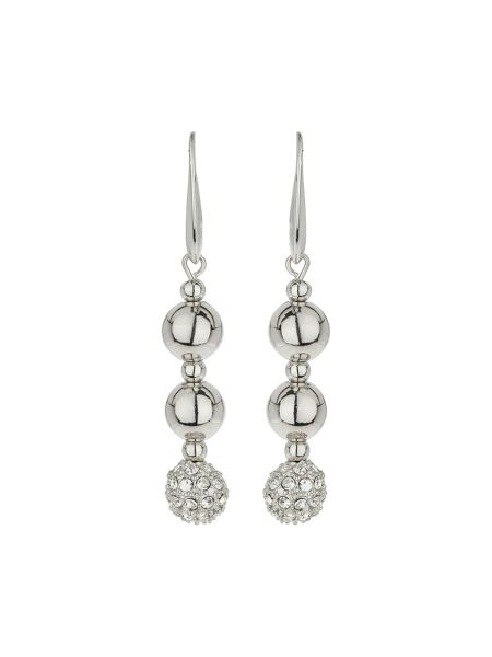 Mikey Crystal ball & metal bead earring