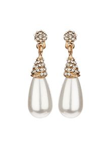 Pearl drop crystal set