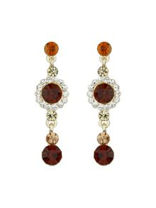 Small drop crystal earring