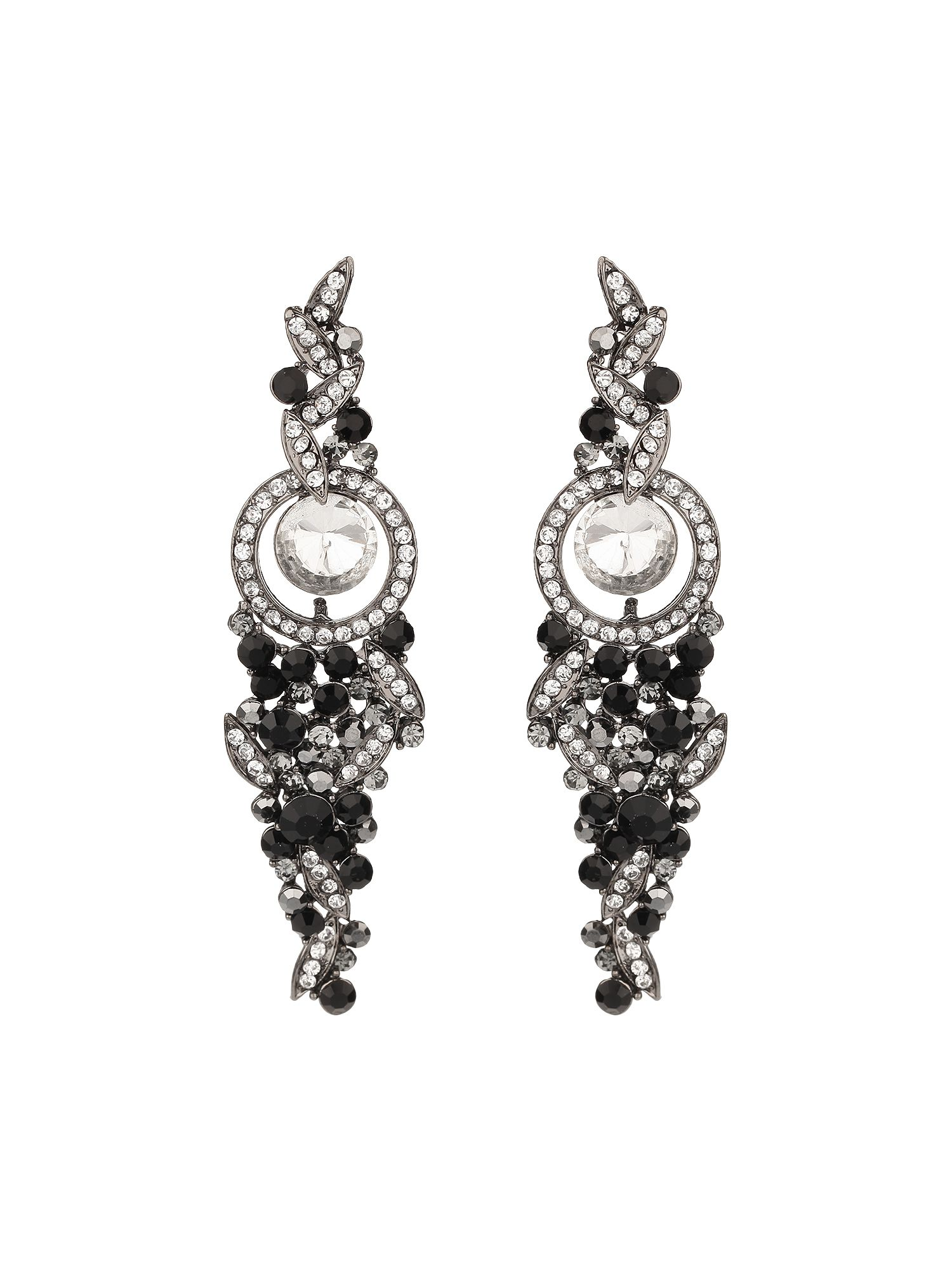 Hanging drop crystal earring
