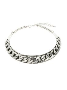 Mikey Flat Chain On Metal Choker