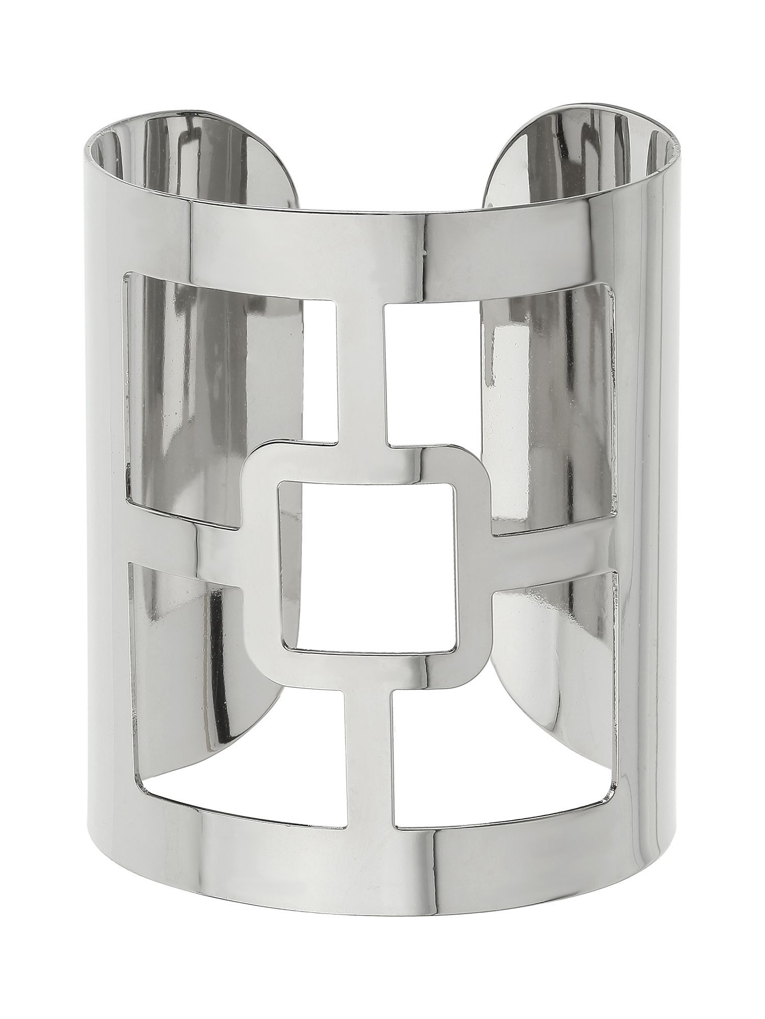 Square centre cut design wide cuff