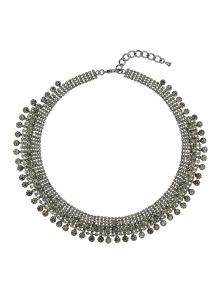 Mikey Crystal lines necklace