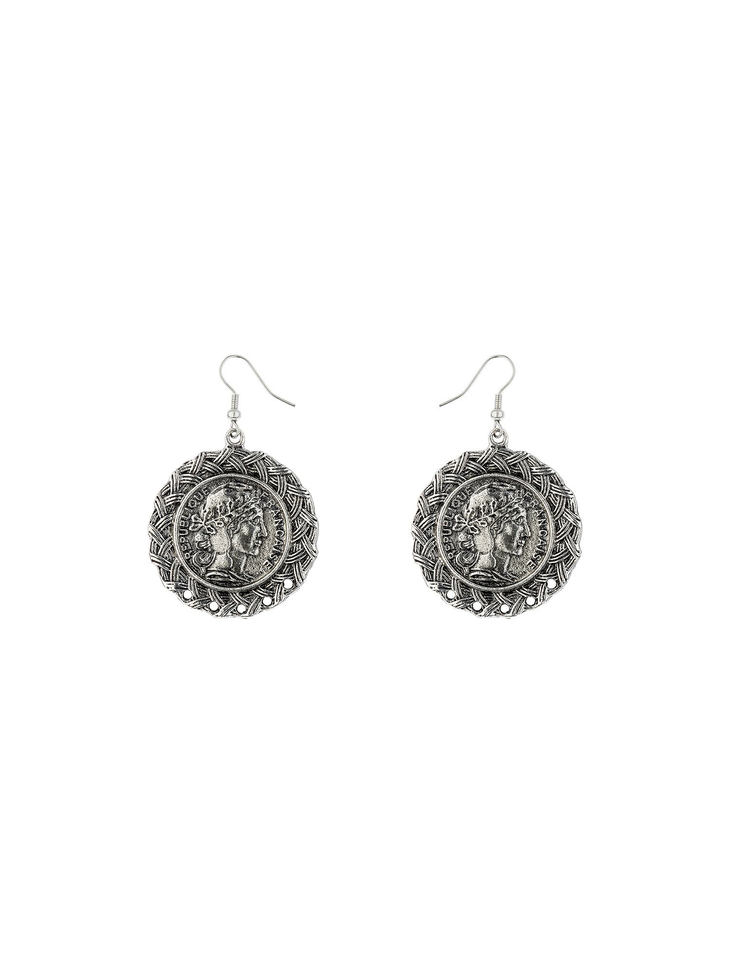 Coin design earring