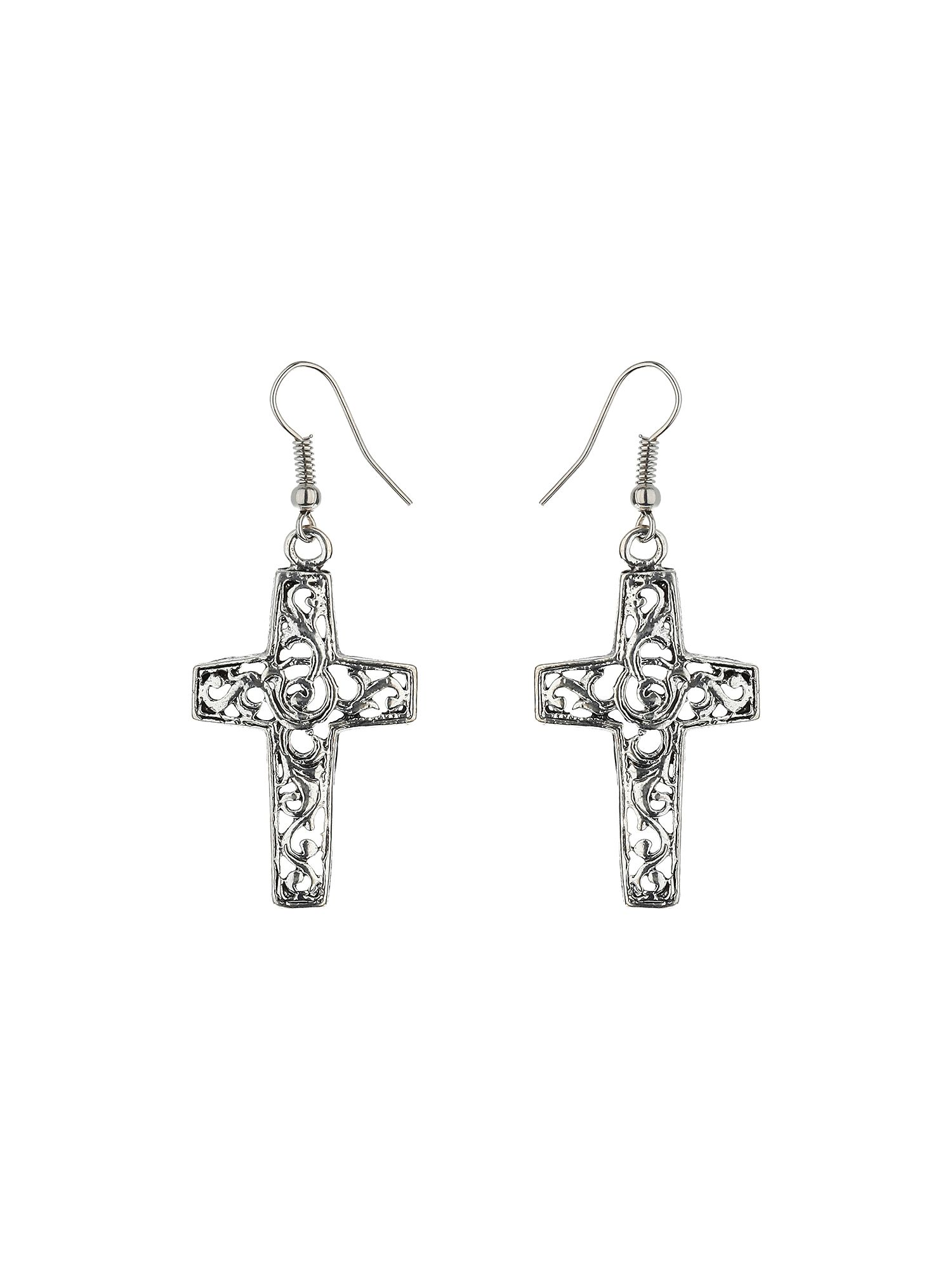 Cross design earring