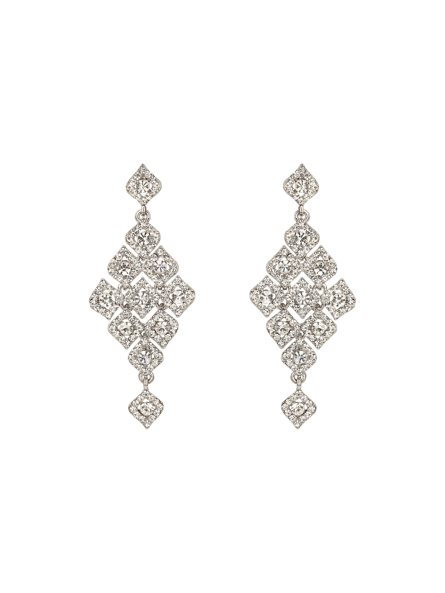 Multi square crystals earring