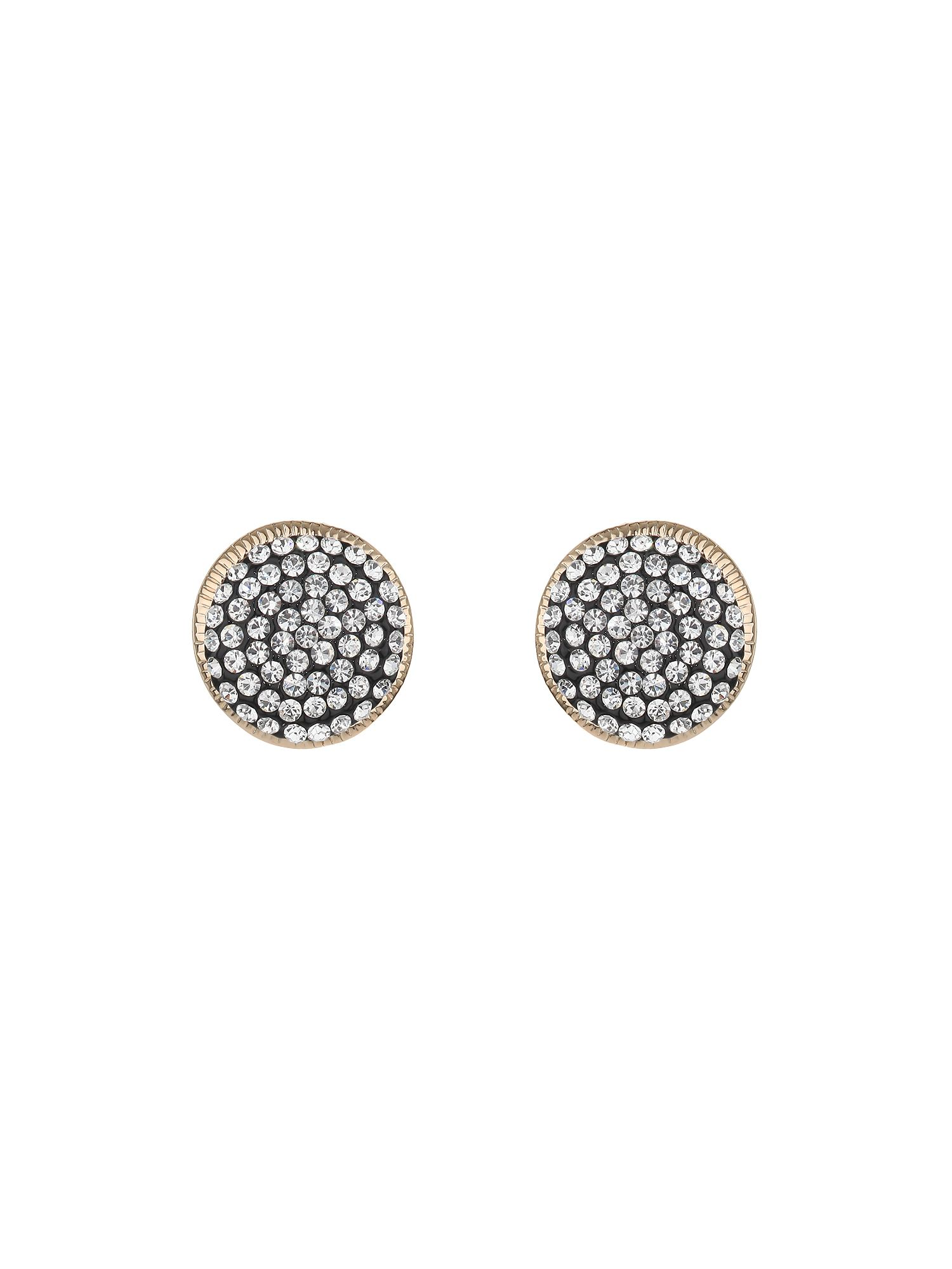 Round design crystal set earring