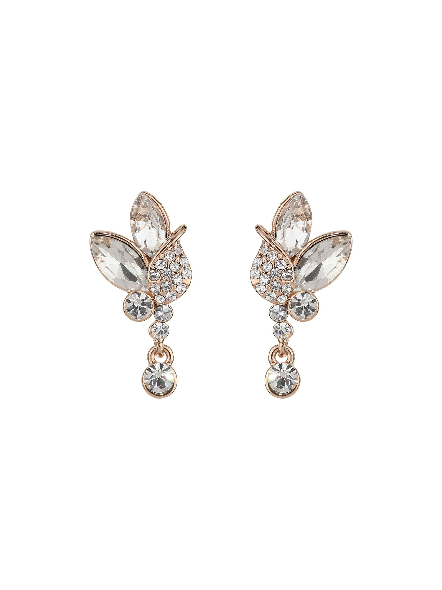 Flower shape stud earring
