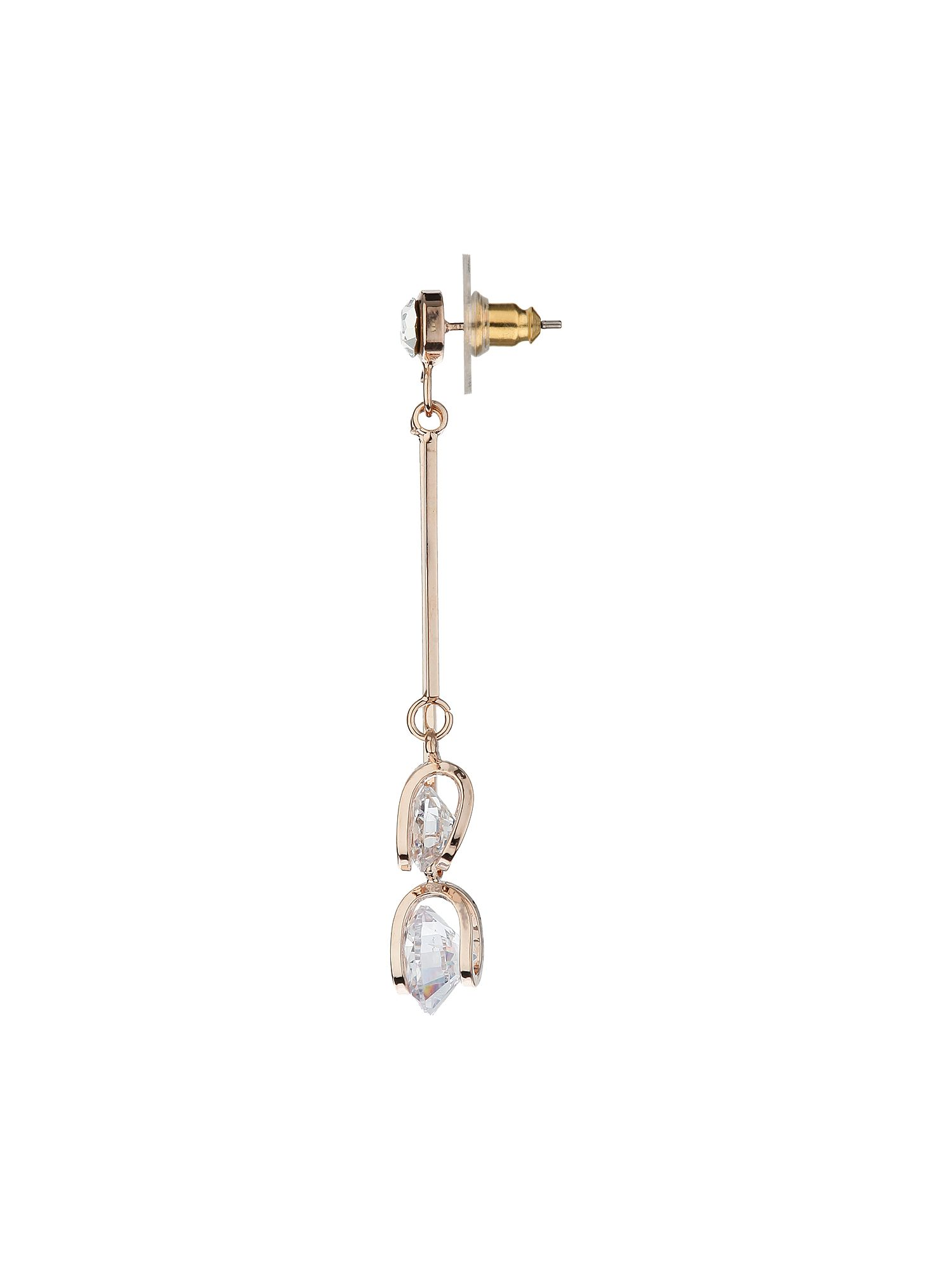 Cystals hanging on wire earring