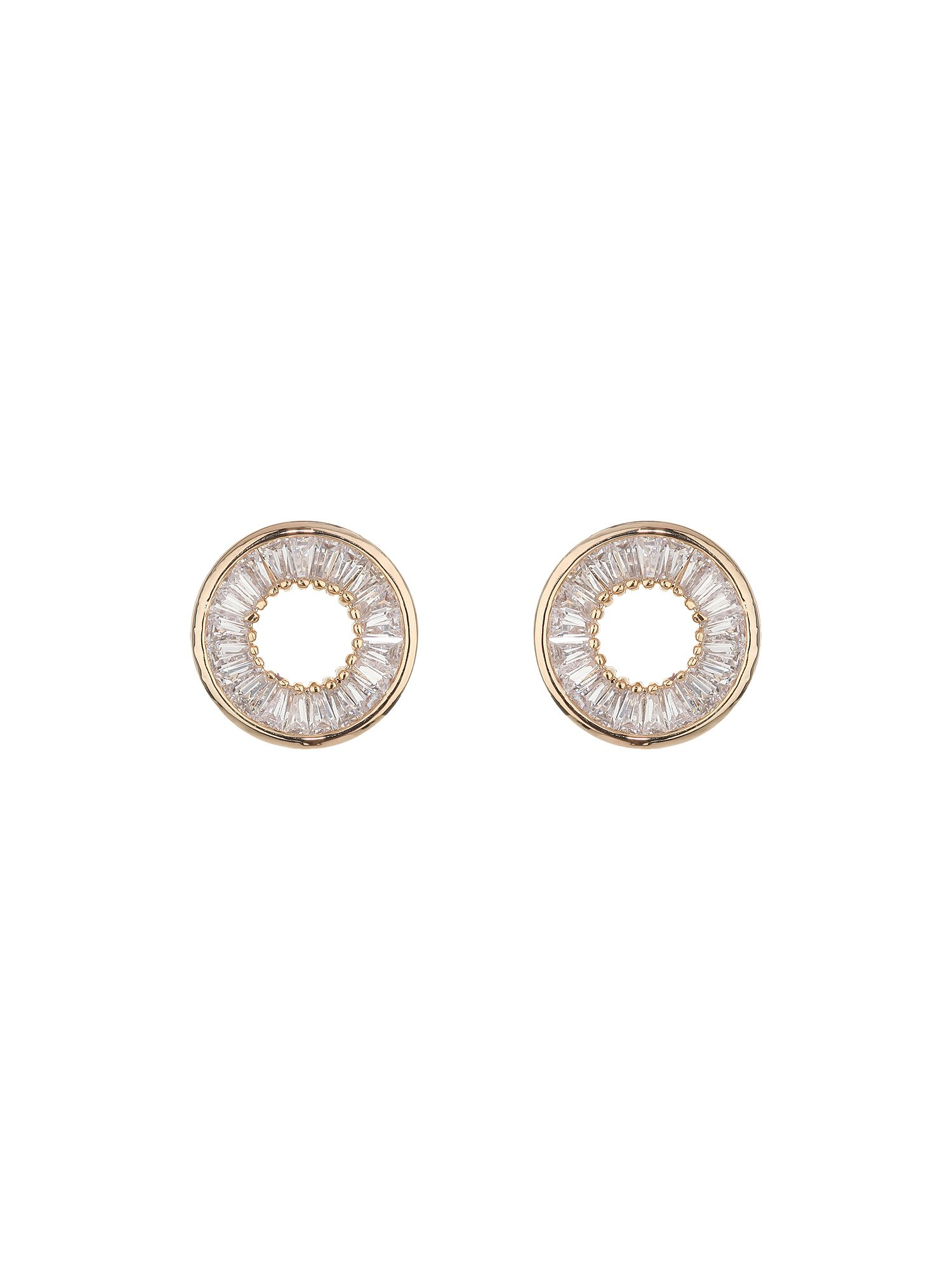Circle with insert bauguette earring
