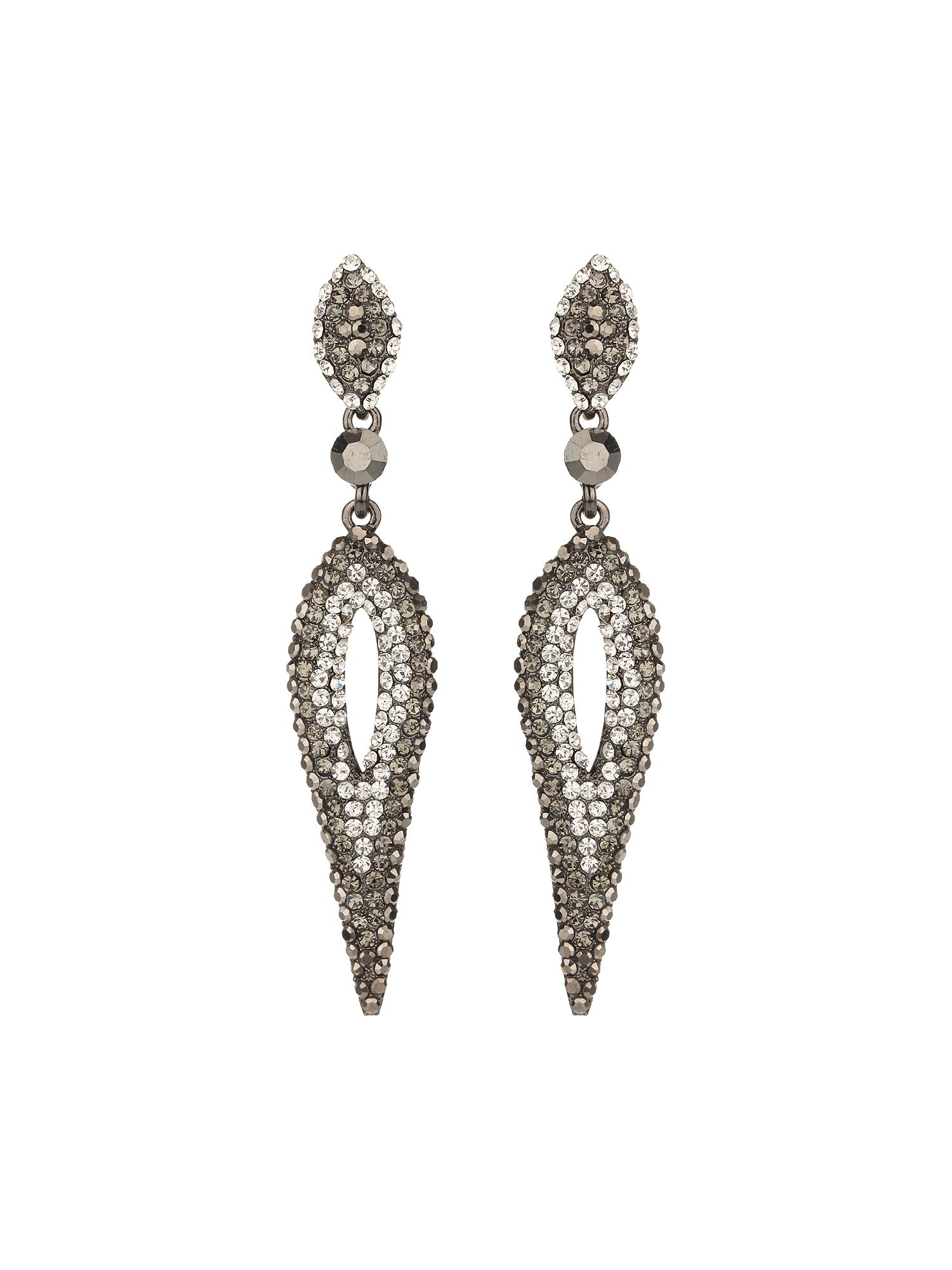 Oval long hanging earring